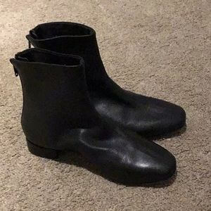 Top shop black leather boots. NWT